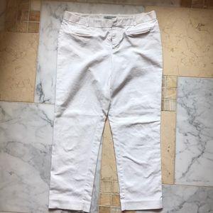Gap white slip cropped pants 6